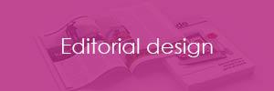 Editorial design button